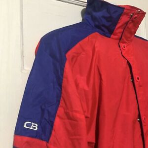 LARGE Men/'s Exclusive Rare 90/'s Vintage CB SPORTS Colorblocked Windbreaker Pullover Jacket Sz