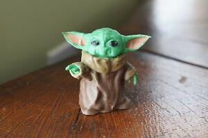 Baby Yoda Pointing Painted Fan Art | eBay