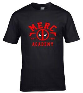Deadpool Merc Academy Superhero Comic Mens t shirt