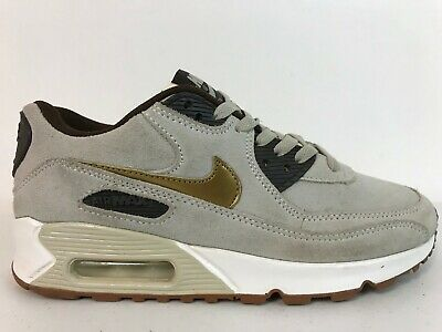 Nike Women AIR Max 90 Premium Suede 818598 200 Gold Tan Black White SZ 7.5 & 10 | eBay