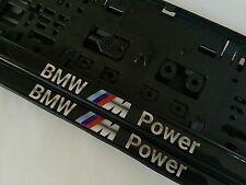 2x3D-Effekt Kennzeichenhalter  Nummernschildhalter BMW M Power M3 M5 M6 .