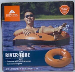 Ozark-Trail-Inflatable-Orange-Water-Tube-Raft-Boat-Pool-Lake-River