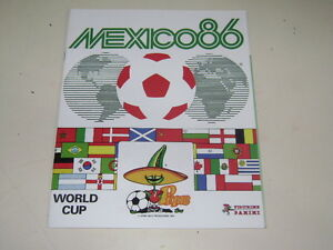 PANINI-WORLD-CUP-MEXICO-86-1986-ALBUM-OFFICIAL-REPRINT-100-complete