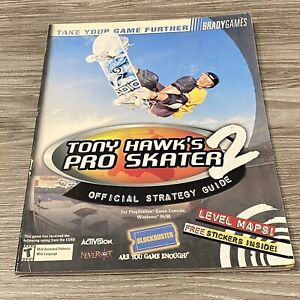 Tony Hawk's  2 Official Strategy Guide Brady Games PlayStation  with Stickers
