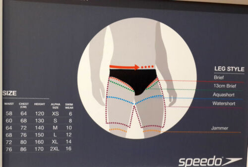 NEW with tags SPEEDO Boys Waterloo Flipturns Swimming Brief Size 14 Endurance