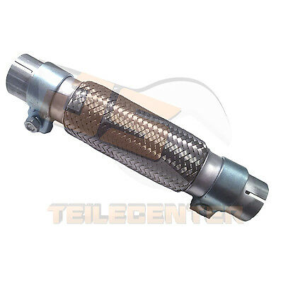 PREMIUM FLEXROHR FLEXTEIL 50x200 /300mm MIT ANSCHLUSSROHR + BREITBANDSCHELLEN