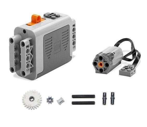 LEGO 9pc Technic Power Functions Battery box 8881 M Motor 8883 clutch gear axle