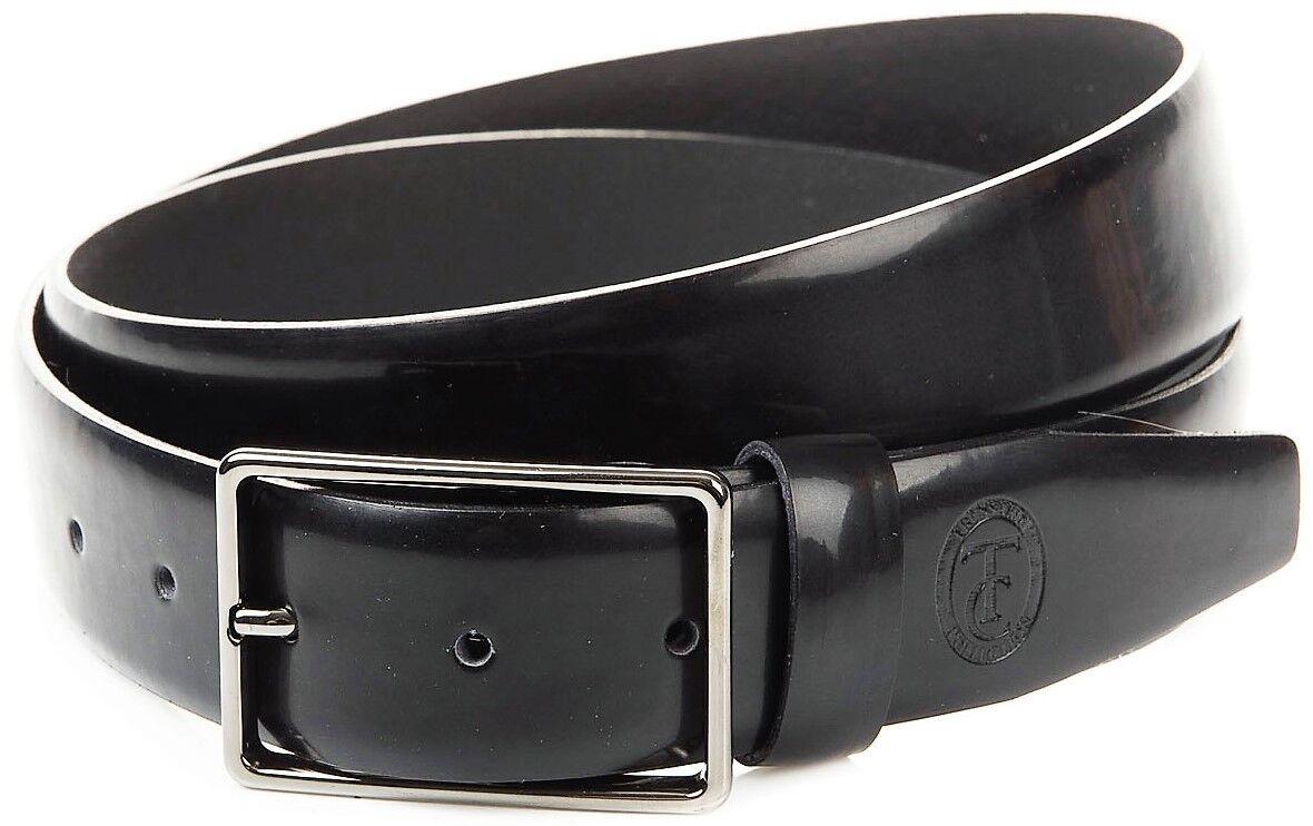 Cintura Uomo Nero Trussardi Pelle Belt Uomo nero Leather CF BAGHERIA 12015TR1006