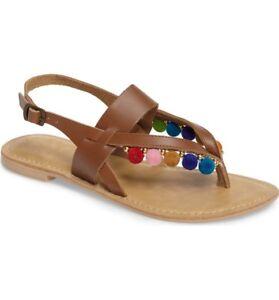 Flat Topshop UK5 Leather EUR38 SIZE Tan Sandals US8eBay zSUMVqpLG
