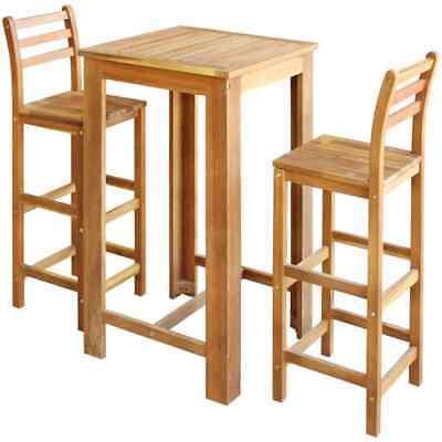Marvelous Breakfast Bar Set Table Stool Wooden Stools Wood Chairs Pub Kitchen 3 Piece Ebay Machost Co Dining Chair Design Ideas Machostcouk