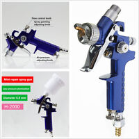 MINI HVLP AIR PAINT SPRAY GUN Tools Car Detail Gravity Feed Paint Sprayer Tool