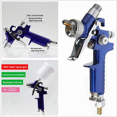 MINI HVLP AIR PAINT SPRAY GUN Tools Car Detail Gravity Feed Paint Sprayer Tool