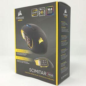 03281df0574 Corsair SCIMITAR RGB MOBA MMO Gaming Mouse Key Slider Mechanical ...