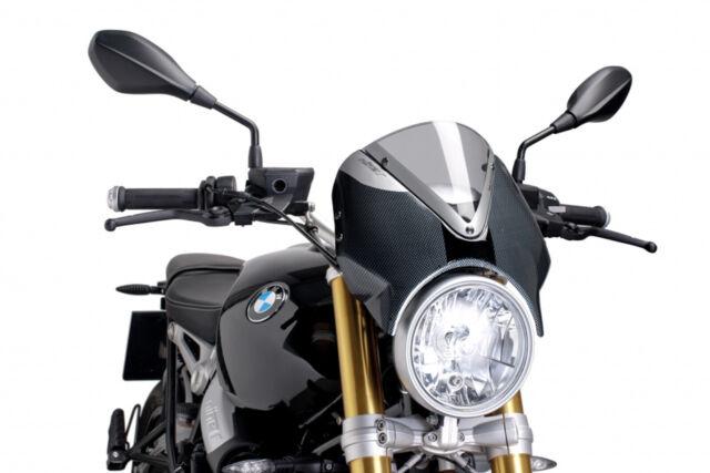 PUIG WINDSHIELD RETRO FOR BMW R NINE T 14-20 LIGHT SMOKE-CARBON