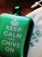 The Chive Authentic Keep Calm And Chive On Flask Green Or Gray Or Black Kcco