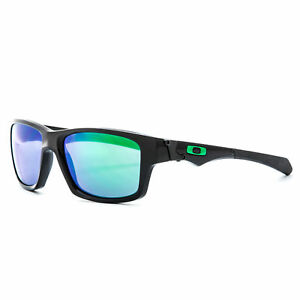 10885841a0 Oakley Jupiter Squared OO9135-05 Polished Black Frame Jade Iridium  Sunglasses