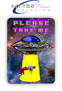 Please-Take-me-80s-Retro-Pixel-8-bit-Art-METAL-SIGN-PLAQUE-Man-CAVE-Poster-Retro