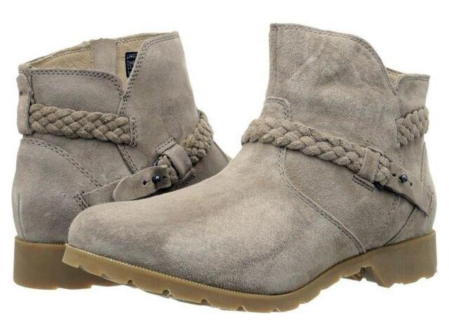 072524954c8377 Teva De La Vina Ankle Suede Desert Taupe BOOTS BOOTIES Size 7 Womens 1008601