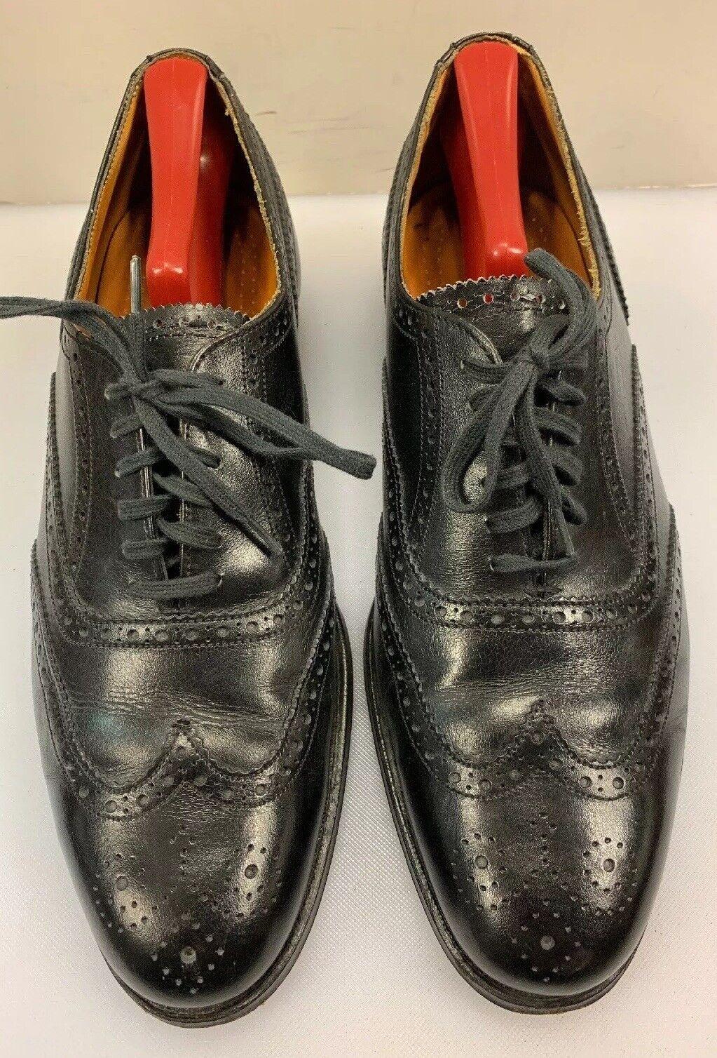 miglior reputazione Cole Haan Uomo 9 9 9 C Wing Tip Oxfords Dress scarpe nero Leather Bench Made England  fino al 60% di sconto