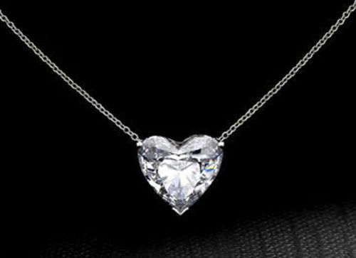 Solid 925 Sterling Silver Heart Solitaire Chain Necklace Jewelry Women Gift