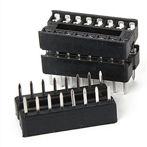50Pcs 16 Pin 16Pin Dip Socket Adaptor Solder Type fv