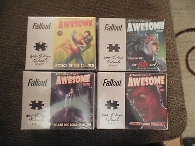Fallout Awesome Tales 200 Piece Puzzle Lot set of 4 unopened
