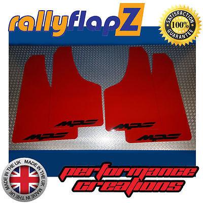 10-13 Rally Mudflaps MAZDA 3 MPS Mk2 Mud Flaps Kit Red Logo Black 4mm PVC