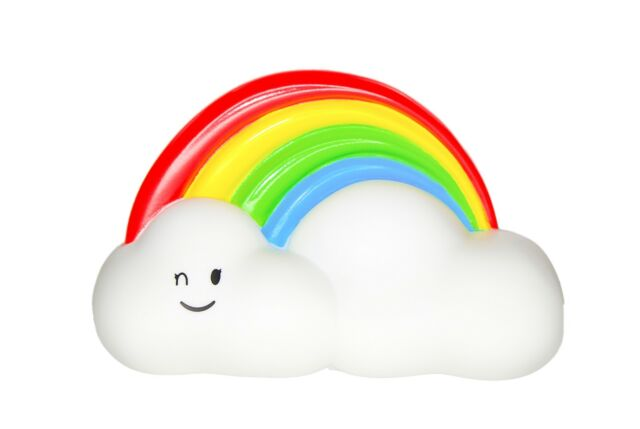 Rainbow Cloud Colour Changing Night Light With 15 Minute Timer Childrens  Gift