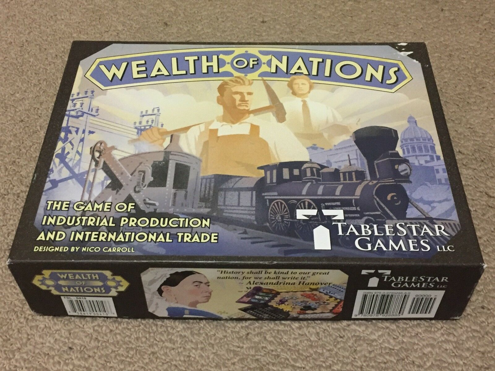 Richesse des nations Board Game par tablestar jeux complet en excellent état