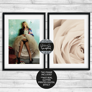 Kate Moss Boxing Gloves poster wall art decor photo print 16x24 24x36 20x30