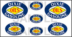 1 1/2 3/4 INCH DIXE GASOLINE OIL GAS STATION  MODEL BUILDING SIGN DECALS STICKER