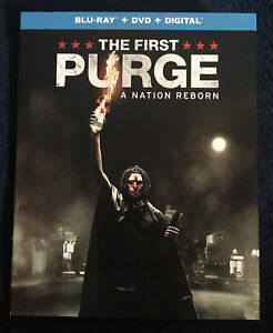 The First Purge (Blu Ray + DVD) **NO DIGITAL** w SLIP COVER **FREE SHIPPING**