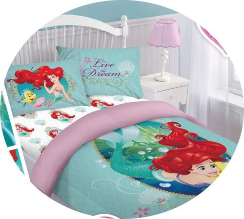 REVERSIBLE DISNEY CARTOONS BEDDING BED COMFORTER SET 3-4PC ALL AGES BOYS GIRLS
