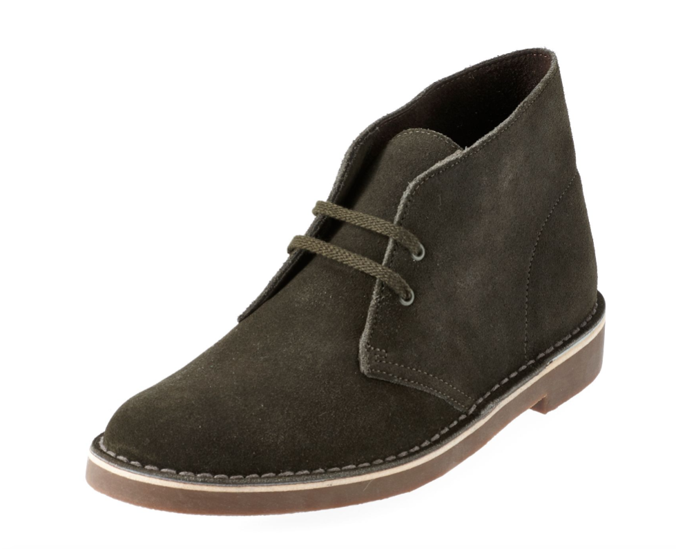 NEW CLARKS BUSHACRE 2 SUEDE SHOES Uomo 13 SHOE BOOTS LODEN GREEN