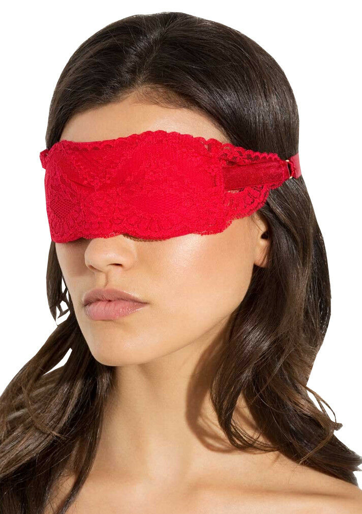 L'AGENT By AGENT PROVOCATEUR Julina Red Eyemask BNWT