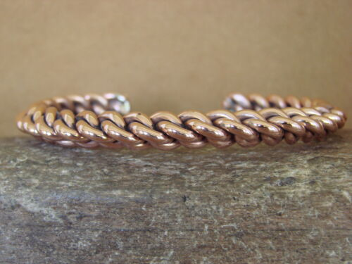 Navajo Native American Jewelry Handmade Twisted Copper Bracelet by Tahe!