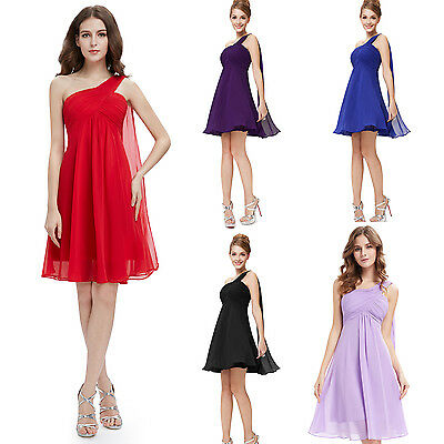 New Chiffon Evening Formal Party Ball Gown Prom Bridesmaid Dress UK Size 6-18
