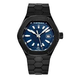 Dietrich Men's Time Companion Blue Dial Hexagon Automatic Watch TC PVD BLUE
