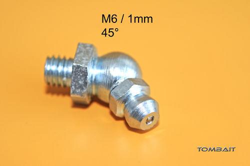 1 x boquillas de engrase y de lubricación m6 x 1mm 45 ° grasa prensa abschmier cono grasa pezones