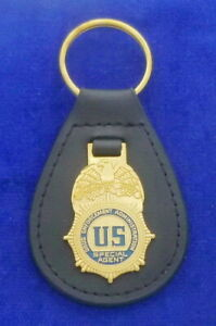 US Secret Service Leather Key Ring #USSS #1