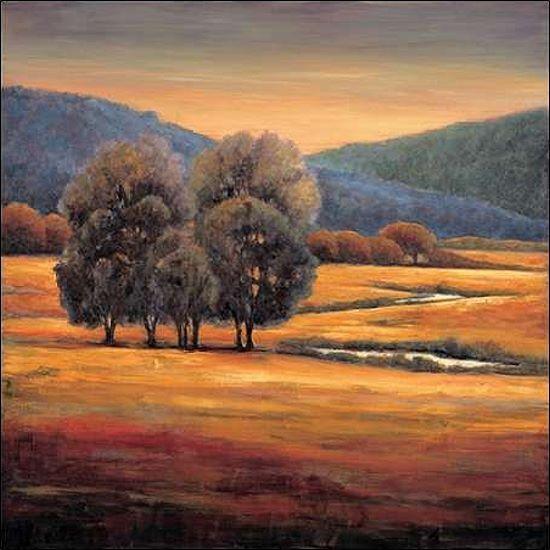 Jeffrey Leonard  In All its Glory I Keilrahmen-Bild Leinwand Bäume Landschaft