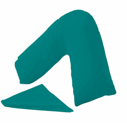 Hollowfibre Back and Neck Support V Shaped Orthopaedic Pillow With V Pillow Case