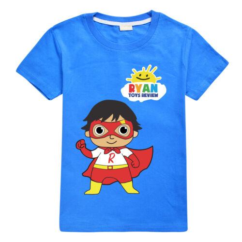Ryan Toys Review Kids Boys Girls T-Shirt Ryan/'s World Summer Cartoon Tee Tops UK