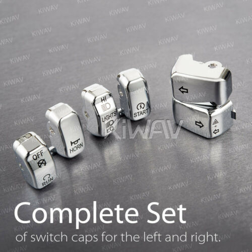 /'07-/'10 Softail Custom FXSTC 6pcs Chrome for Harley /'96-/'99 Switch Cap Kit