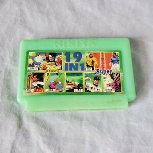 RARE-NES-Famicom-19-in-1-Cart-Nikita-Green-Super-HIK-K19001