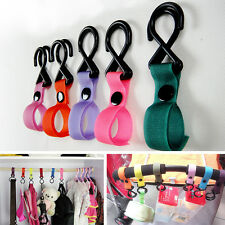 New Plastic Baby Stroller Pram Car Hanger Hanging 2 Hooks Multi Purpose