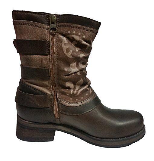 Felmini women mixico brown in pelle di prima prima prima qualità stivali a7158b