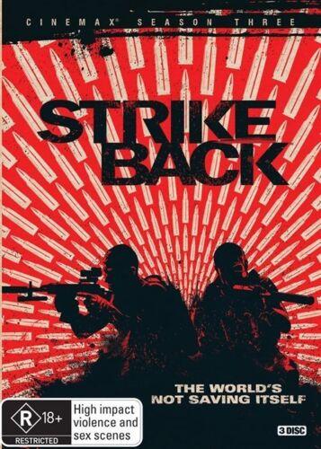 1 of 1 - Strike Back : Season 3 (DVD, 2015, 3-Disc Set) Brand New (D117)