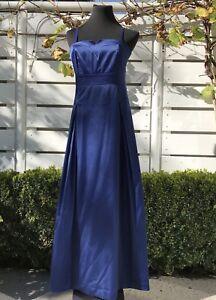 Kleid Abendkleid Lang Dunkelblau Gr 38 Mexx Ebay
