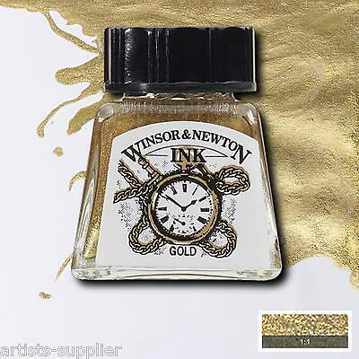 Winsor & Newton DRAWING INK art calligraphy black Indian ink & ALL COLOURS